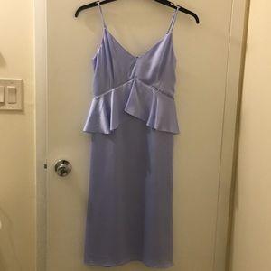NWT satin material light blue dress!
